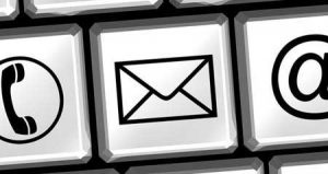 Per Email gehts am Schnellsten